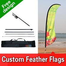 Free Design Free Shipping Double Sided Inground Spike Exhibition Flags Banners Church Flags Banners Feather Banners Custom(China)
