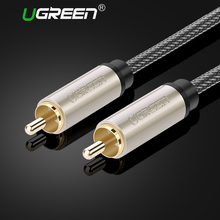 Ugreen RCA to RCA Male to Male Coaxial Cable Stereo Audio Cable Nylon Braided 3m 5m 10m RCA Video Cable for TV Amplifier Home(China)