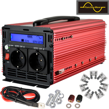 lcd inverter 12v 220v 1500w 3000w peak pure sine wave power inverter for home applications