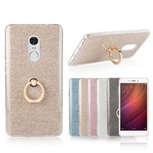 Buy Xiaomi Redmi Note 4 Case Flash powder Phone Case Xiaomi Redmi Note 4 TPU Silicone Soft Back Cover Finger Ring Bracket for $3.60 in AliExpress store