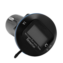 Car Styling 12V 24V Car Charger Thermometer Ammeter Voltmeter Dual USB Port 3.1A LED Monitor(China)