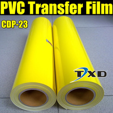 CDP-23 Yellow PVC heat transfer film with size 50cmx25m with free shipping , transfer PVC vinyl film for fabric