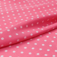 Retro pink base mini white polka dots Pattern silk, cotton and linen blends fabric sewing for baby shirt dress skirt craft by th(China)
