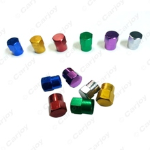 4PCS Car Motorcycle Metal Tire Valve Stem Covers Caps 6 Colors Gold,blue,red,silver,green,purple #CA5482