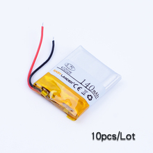 10pcs/Lot 402025 3.7V 140mAh lithium polymer li-Polymer Battery For mp3 mp4 toys watch Bluetooth headset DVR GPS AHB372026(China)