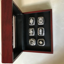 Hot sell A set Oakland raiders los angels raiders championship rings 6 pcs together as best gift