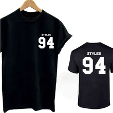 Harry Styles 94 T Shirt Top Tee Tshirt One Direction 1D Music Tour Fan D.O.B Men Cotton 2016 Summer T Shirt T-F10858