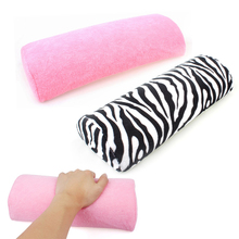 Soft Zebra Stripe/Pink Hand Rest Cushion Pillow Nail Art Design Equipment Manicure Half Column Sponge Tools