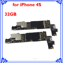 for iphone 4s original main board 32GB unlocked motherboard full function smart phone Circuits board good working logic board