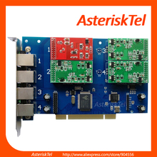 TDM410P with 4 FXS/FXO ports,TDM400P Asterisk Card FXO FXS Board For Office PBX SIP VoIP PABX(China)