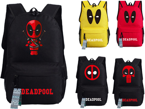 2017 New Deadpool Backpack Marvel Comics Superheros Shoulder School Bag For Teenagers Canvas  Backpack Travel Rucksack Mochila<br><br>Aliexpress