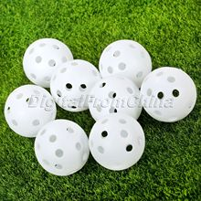 50ps Plastic Golf balls Golf Practice Training Sports Balls Golf Accessories Outdoor Golf Club Tool Hallow 42mm Sports Wholesale