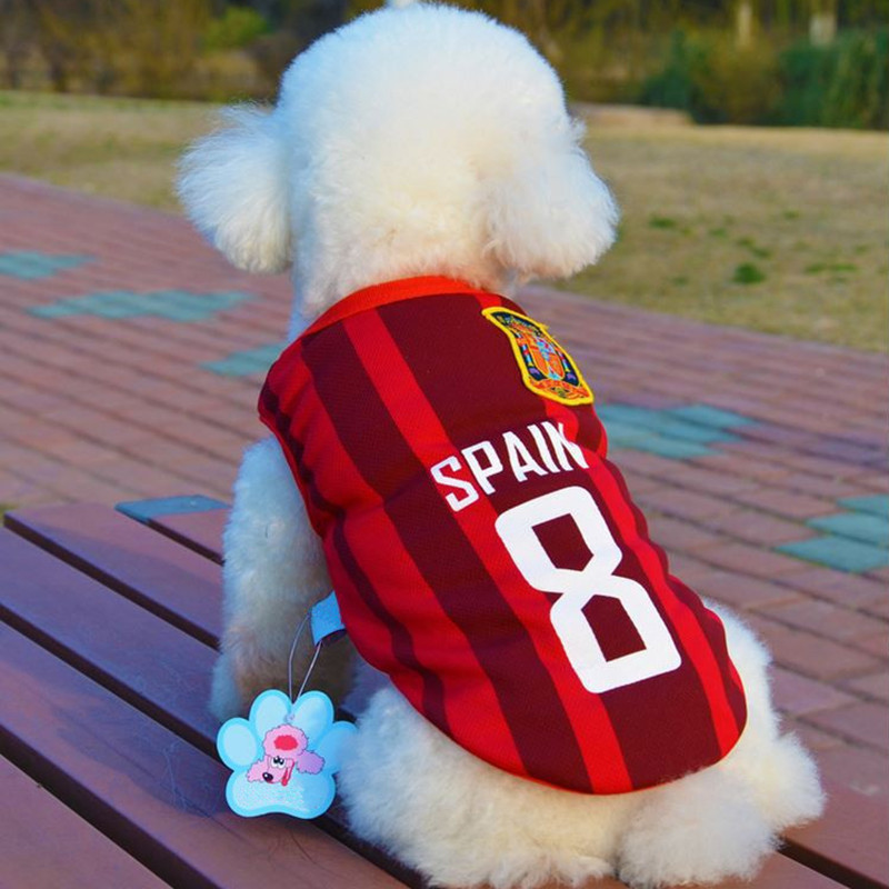 Bajila World Cup Soccer Jersey For Dog Cool Breathable Dogs Vests Puppy Outdoor Sportswear Football Clothes(China)