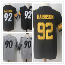 Mens 92 JAMES HARRISON Jersey 2017 Rush Salute to Service High Quality Football Jerseys(China)