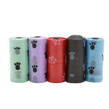 S-home 10 Roll/150PCS Pet Dog Waste Poop Bag Poo Printing Clean-up Degradable MAR17(China)