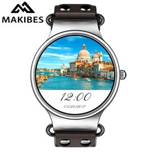 New Makibes Talk T1 Android 5.1 Smart Watch MTK6580 Quad Core 3G WIFI Bluetooth GPS Watch Heart Rate Monitor Smart Watch Phone