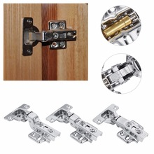 1 Set Universal Kitchen Bedroom Living room Cabinet Cupboard Closet Wardrobe Inner Hinge Furniture Door With 6 scews