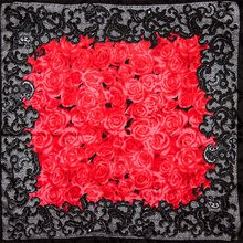 100% Silk Scarf Women Scarf Rose Scarf Silk Bandana 2017 Top and Hot Selling Print Small Square Silk Scarf Luxury Gift for Lady