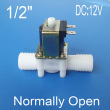 Normally Open Type 1/2'' Solenoid Valve Electric Magnetic N/O Water Control Diverter DC12V DC24V Optional(China)
