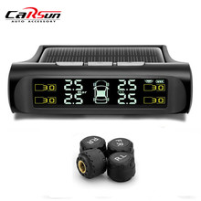 Solar Energy Car TPMS Tire Pressure Monitor & Temperature Monitoring System Real time Digital Display Alarm Support PSI OR BAR