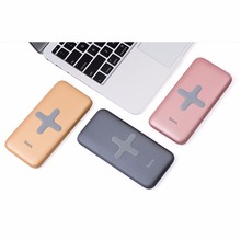 Original HOCO 8000mAh Wireless Charging Base Power Bank Portable Charger USB Charging Backup Battery For Almost Moblie Phone