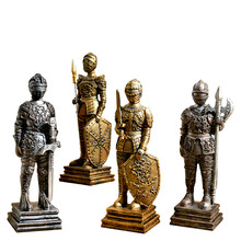 Roman Warrior Warrior Classic Figurines Home Decor Metal Decoration Craft Gift Home Decoration Gold Famous Metal Bronze Color C