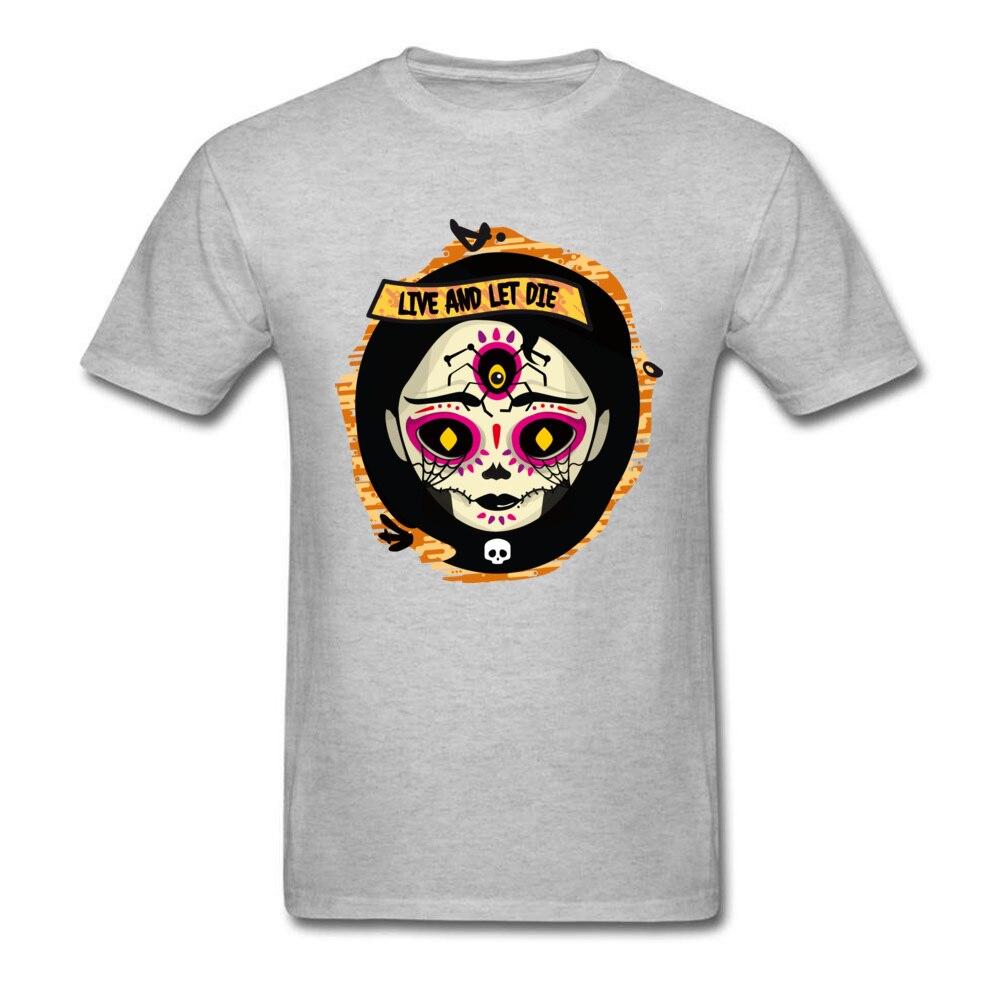 Catrina 100% Cotton T Shirt for Men Design T-shirts Group Funny Round Neck Tees Short Sleeve Drop Shipping Catrina grey