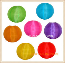 15pcs/lot 10inch (25cm) Waterproof Round Nylon Lantern even ribbing outdoor hanging for wedding/party decorations Free shipping