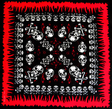 Free Shipping 2017 New 55CM*55CM 100% Cotton Men/Women Skull Paisley Bandanas(China)