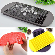 160 Grids DIY Creative Small Ice Cube Mold Square Shape Silicone Ice Tray Fruit Ice Cube Maker Bar Kitchen Accessories