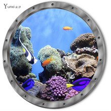 YunXi 2017 NEW 3D Animal Seafood Small Fish Sticker Bedroom Cabinet Bathroom Glass Background Decorative PVC Wall Sticker