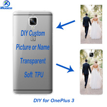 DIY Transparent Soft TPU For OnePlus 3T Phone Case Custom Photo for One Plus 3 / OnePlus 3T Shell Ultra Thin 0.5mm Clear Cover