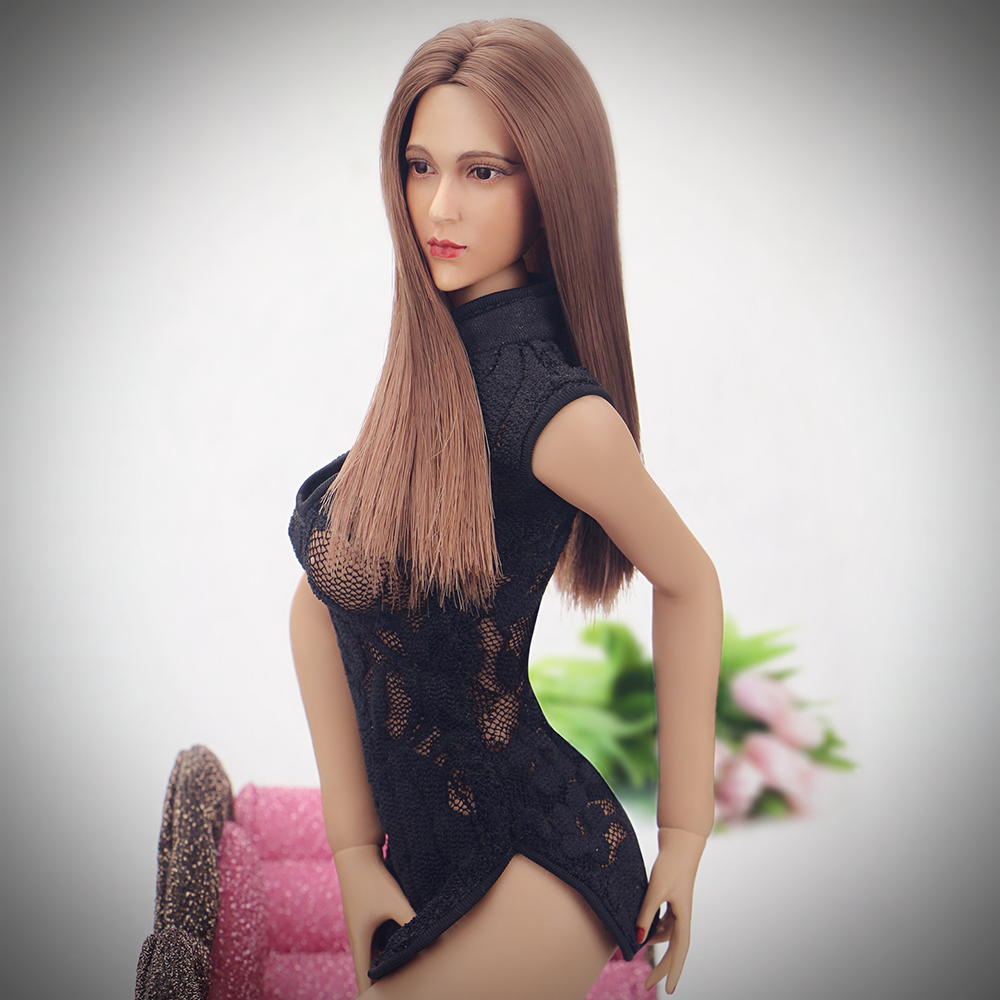 1:6 Female Action Figure Accessories Black Cheongsam Sexy Lingerie Set for 12 Large Bust Phicen Doll Jiaoudol Action Figure<br><br>Aliexpress