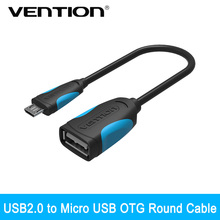 VENTION OTG Adapter Micro USB To USB 2.0 Converter for Android Galaxy S3 S4 S5 Tablet Pc to Flash Mouse Keyboard(China)