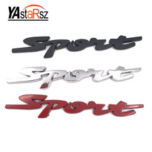 1 Piece 3D Sport metal car stickers, Emblem badges car styling Logo outer decoration car-styling decals letter auto accessories(China)