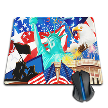 Top Game Mouse Pad Print Locking Edge PC Computer Mouse Pad  Love USA Non-Skid Rubber Pad to Mouse Mice Pad Drop Shipping