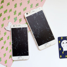 Broken screen for iPhone 6s case fun matte for iphone7plus Hanging neck cover 6 apple Kuso phonecase interesting Strap funny