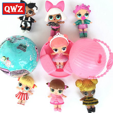 QWZ LOL Suprise Boneca Ball Series Mini Boneca LOL Surpresa Doll in Ball Egg Sister Toys Pack 9.5cm Funny Christmas Toys Gifts