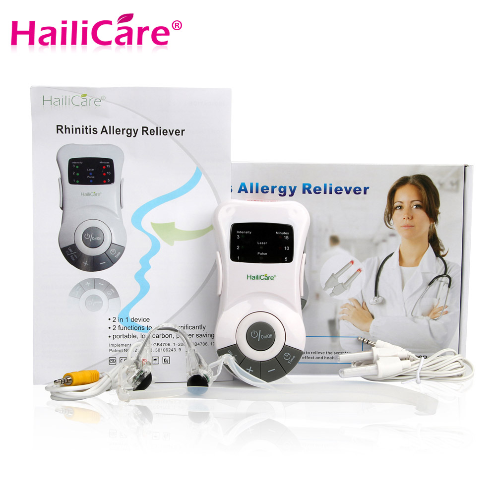 Rhinitis Therapy Machine Allergy Reliever Low Frequency  Laser Hay Fever Sinusitis Treatment Device Nose Care Massager Machine <br><br>Aliexpress