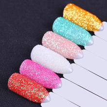 6 Boxes Holo Shimmer Nail Dip Glitter Powder Colorful Round Ultrafine Manicure Nail Dust Decoration(China)