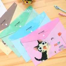 Cute PVC Plastic A4 Test Paper File Folder Animal Cartoon Presentation Clip File Bag Kids Gift School Office Business Supplies