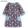 Little maven children brand baby girl clothes 2018 autumn new design girls cotton tops floral print t shirt 51239