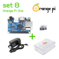 Orange Pi One SET8: Orange Pi One+ Transparent ABS Case+ Power Supply+ 8 GB Class 10 Micro SD Card Beyond Raspberry