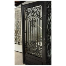 metal glass double entry doors luxury double entry doors arched double entry doors hc-ird14(China)