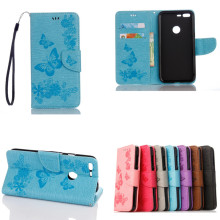 1PCS,2017 New Embossing Butterfly PU Leather Wallet Case Stand Flip Cover for Google Pixel Pixel XL LG Stylus 2 LS775 Case