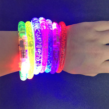 2018 Real Led Dance Bangle Cartoon Watch Boys Girls Flash Wrist Band Light Bracelets Children's Day/birthday Party Led Bracelet(China)