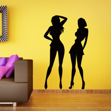 Sexy Abstract Line Art Beauty  Girl Illustrations  Sketch Pvc Wall Decal Wallpaper Wall Sticker Bathrooms Decor Stickers