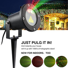 Christmas Laser star Light Outdoor Garden Decoration Waterproof  IP65 LED Projector Showers motion Red green shine in star