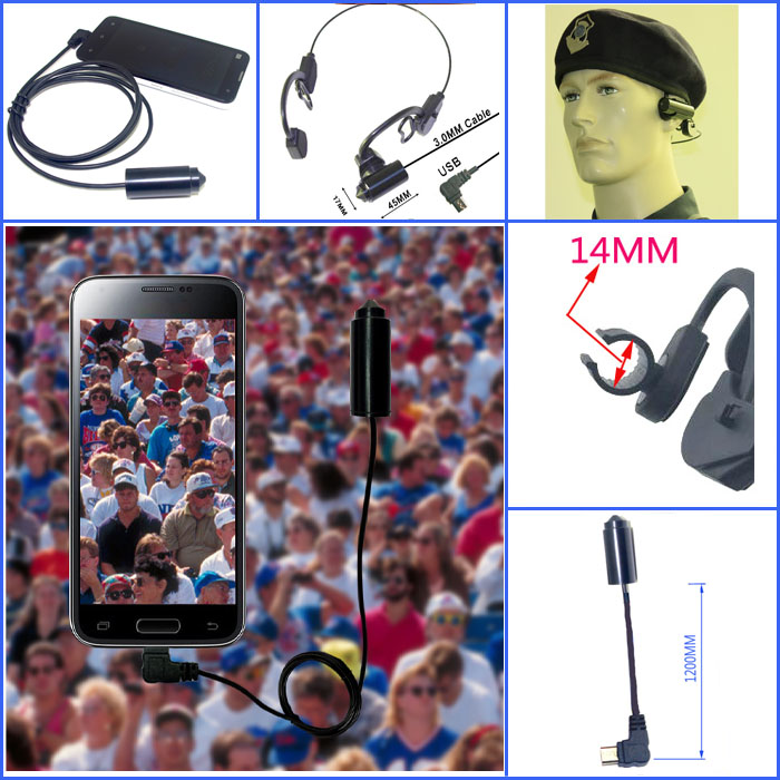 External micro usb digital head camera for USB OTG Compatible Android Smartphones<br>