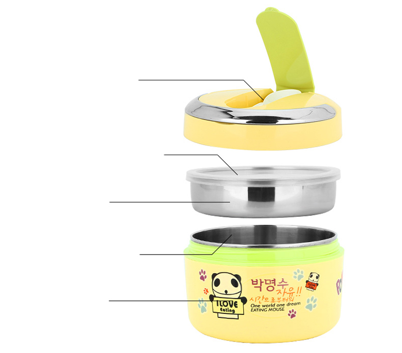 Cute Cartoon 304 Stainless Steel Lunchbox Thermal Insulation Food Storage Container Portable Handle Picnic Bento Lunch Box 13